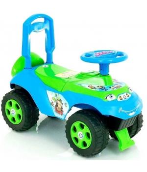 Детская машинка каталка с рулем, толокар зелено-голубой, Doloni Toys