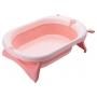 Складная ванночка для купания новорожденных 81см, (розовая) Same Toy