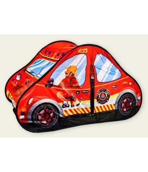 Детская палатка машина для мальчика Пожарная 118х72х68 см, Игровые палатки для детей