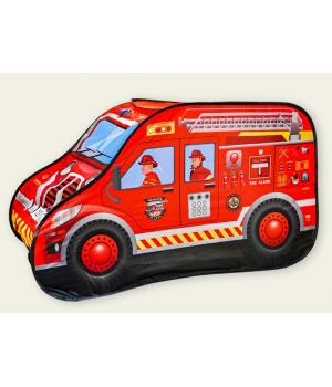 Детская палатка машина Пожарная 126х72х71 см, Игровые палатки для детей