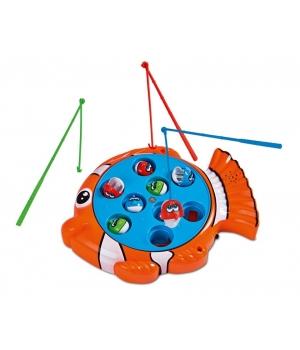 Игрушка рыбалка с крючками 3 удочки, 9 рыбок, Noris