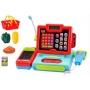 Касса детская с микрофоном (калькулятор,сканер,микрофон,продукты,свет,звук)