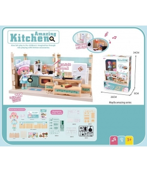 Дом для кукол Кухня (куколка,мебель,аксессуары)