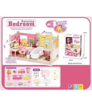 Дом для кукол Спальня (куколка,мебель,аксессуары)