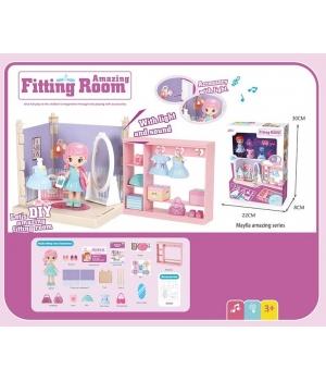 Дом для кукол Гардеробная (куколка,мебель,аксессуары)