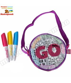 Круглая сумочка раскраска Колор ми майн с пайетками Simba