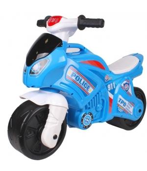 Мотоцикл беговел для детей, Полицейский, свет,звук, Технок