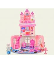 Игрушечный замок для кукол в чемоданчике, (2 фигурки) 51 см