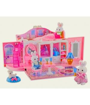 Кукольный дом в чемодане с фигурками