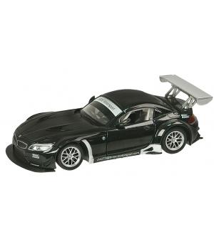 Коллекционная модель БМВ з4 ГТ3 (BMW Z4 GT3) машинка металлическая, 1:24, (черная), Автопром