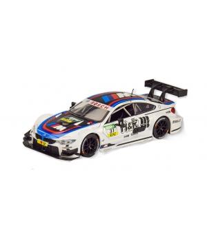 Коллекционная модель БМВ М4 Спорт (BMW M4 DTM) машинка металлическая, 1:24, (белая), Автопром