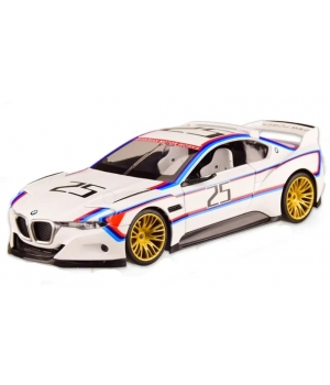 Коллекционная модель БМВ 3.0 Спорт (BMW 3.0 CSL Hommage R) машинка металлическая, 1:24, (белая), Автопром