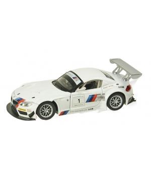 Коллекционная модель БМВ з4 ГТ3 (BMW Z4 GT3) машинка металлическая, 1:24, (белая), Автопром