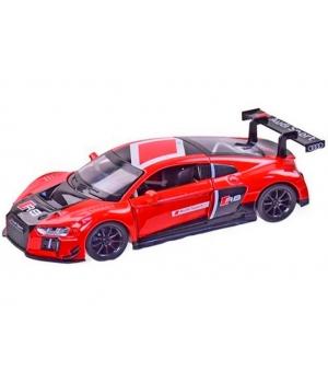 Масштабная модель Ауди Р8 ЛМС (Audi R8 LMS) машинка металлическая, 1:24, АВТОПРОМ