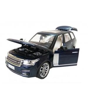 Машинка Джип Рейндж Ровер коллекционная модель LAND ROVER RANGE ROVER металлическая, 1:26, (красный, черный), Автопром