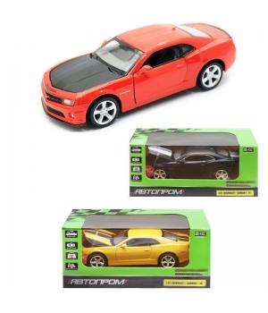 Машинка Шевроле Камаро СС коллекционная модель Chevrolet Camaro SS металлическая, 1:32, (желтая, красная, черная), Автопром