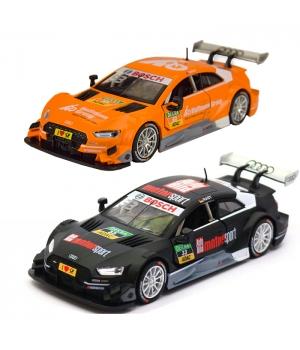 Коллекционная модель Ауди спорт РС 5 (Audi RS 5 DTM) машинка металлическая, 1:32, (черный, оранжевый), Автопром