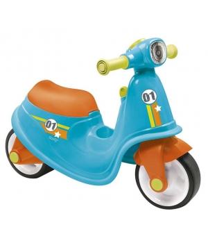 Беговел скутер для детей, голубой, Smoby