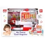 Детская игрушка касса на батарейках (свет,звук,сканер,весы,калькулятор, продукты)