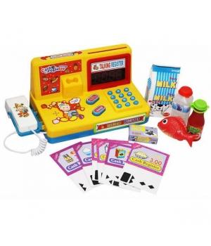 Детская игрушка касса на батарейках (свет, звук, сканер, калькулятор, продукты)