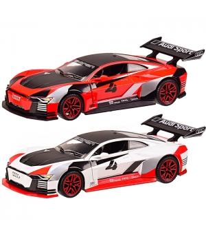 Коллекционная модель Ауди Гран Туризмо, AUDI e-tron Vision Gran Turismo, 1:32, (белый, красный) Автопром