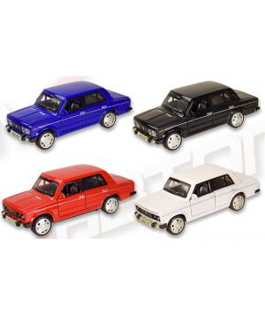 Машинка Жигули ВАЗ-2106 коллекционная модель Lada 2106 металлическая, 1:32-1:36, (4 цвета), Автопром