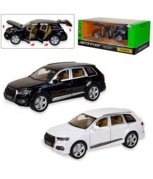 Коллекционная модель Ауди кью 7 (Audi Q7) машинка металлическая, 1:24, (белый, черный) АВТОПРОМ