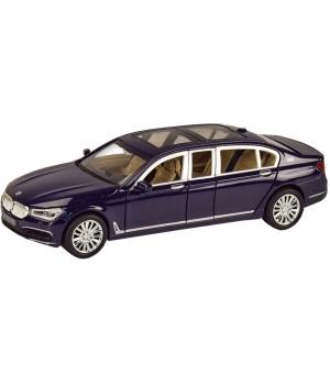Коллекционная модель БМВ 760 Лимузин (BMW 760) машинка металлическая, 1:24, (темно-синяя), Автопром