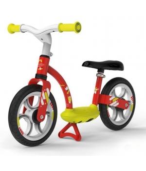 Беговел для ребенка от 3 лет, с подножкой, красный, Smoby