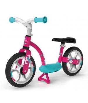 Беговел для ребенка от 3 лет, с подножкой, розовый, Smoby