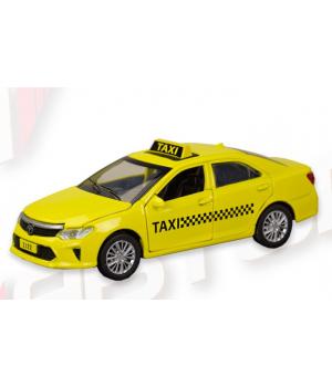 Машинка Тойота Камри Такси коллекционная модель Toyota Camry Taxi металлическая, 1:32, Автопром