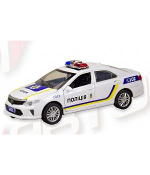 Машинка Тойота Камри Украинская Полиция коллекционная модель Toyota Camry Police металлическая, 1:32, Автопром