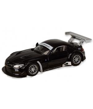Коллекционная модель БМВ з4 гт3 (BMW Z4 GT3) машинка металлическая, 1:32, (черная), Автопром