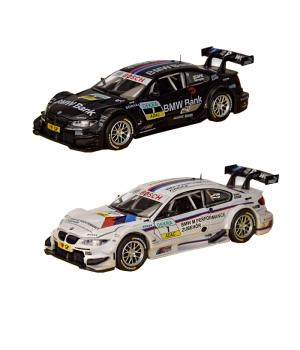 Коллекционная модель БМВ М3 ДТМ (BMW M3 DTM) машинка металлическая, 1:32, (белый,черный) Автопром