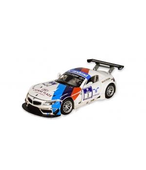 Коллекционная модель БМВ з4 ГТ3 (BMW Z4 GT3) машинка металлическая, 1:32, (белый) Автопром