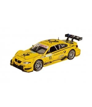Коллекционная модель БМВ М3 ДТМ (BMW M3 DTM) машинка металлическая, 1:32, (желтая) Автопром