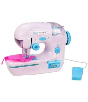 Детская швейная машинка которая шьет (батарейки,свет, с аксес)