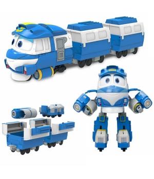 Кей Роботы Поезда игрушка трансформер с вагонами Silverlit (Оригинал)