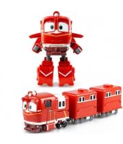 Альф Роботы Поезда игрушка трансформер с вагонами Silverlit (Оригинал)