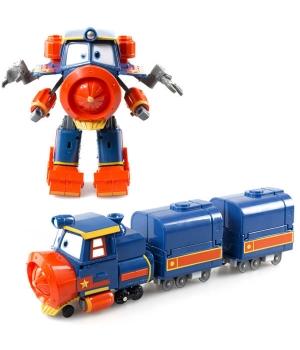 Виктор Роботы Поезда игрушка трансформер с вагонами Silverlit (Оригинал)