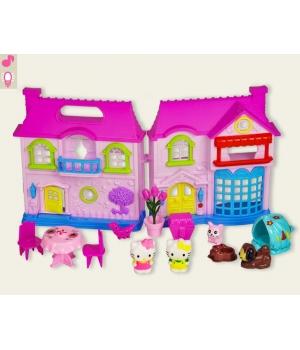 Кукольный домик с фигурками Hello Kitty, мебелью, свет и звук