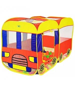 """Детская палатка машина для мальчика """"Трамвай"""" 145*72*97см, Игровые палатки для детей"""