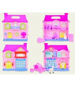 2-этажный кукольный дом с фигурками, мебелью, 2 вида