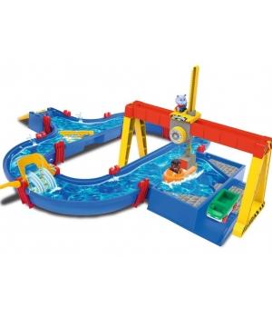 Игровой набор для игр с водой, Железный порт с краном и лодкоой, 104х90, Аква Плей