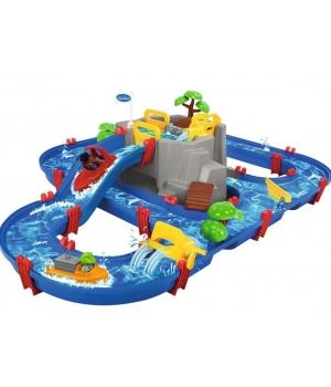 Игровой набор для игр с водой, Горное озеро с 2 лодками, 126х88х35 см, Аква Плей
