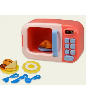 Микроволновка детская игрушка (свет-звук,вращается тарелка,продукты)