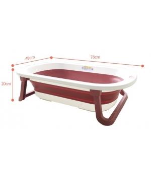 Детская ванночка складная для купания Комфорт, красная - Babyhood