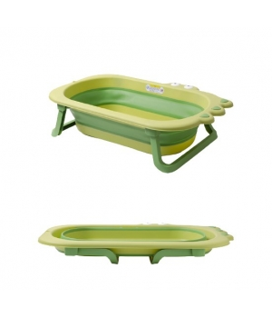 Детская ванночка складная для купания новорожденных, Крокодил зелена - Babyhood