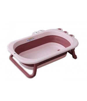 Ванночка складная для новорожденных, Крокодил розовая - Babyhood