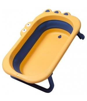 Детская ванночка складная для купания младенца, Крокодил желтая - Babyhood